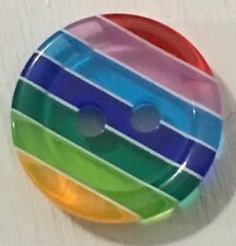 Rainbow Buttons 2 Hole 12mm Pack Of 12