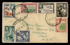 DR WHO 1948 FIJI SUVA AIRMAIL TO USA 183673