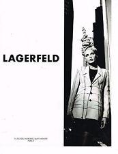 PUBLICITE ADVERTISING 104  1994  LAGERFELD   haute couture