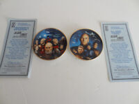 Star Trek Next Generation 2 Mini plates ALL GOOD THINGS & YESTERDAY'S ENTERPRISE
