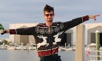 L UGLY Christmas Sweater Party Nordic REINDEER Snowflakes Knit Holiday Cardigan