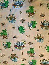 Vintage Koala Raccoon Cotton Fabric - 5.7 yards White Sewing Quilting UNCUT