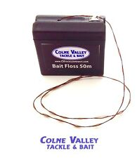fishing bait floss 50m Brown Ptfe Floss Dispenser Easy Grip Cv Tackle Ltd