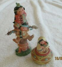 1995 Enesco Friends of The Feather Native American Indian Totem & Trinket Box