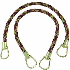 "Plum Olive Beige 18"" Rope Tiebacks Plum Orchard [Pair Of]"