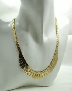 Lovely Fantastic Quality Heavy 9 carat Gold Cleopatra Necklace