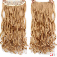"24"" Thick Wavy/Curly Clip In on Hair Extensions 3/4 Full Head 5 Clips Hairpieces"