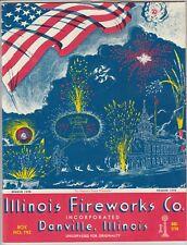 Vintage Illinois Fireworks Company Danville, Il Bicentennial Catalog Mint