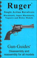 Ruger Revolvers Manual Book Takedown Single Action Blackhawk Guide Gun-Guides