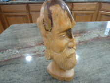VINTAGE HAND CARVED WOOD BUST WOODCARVING