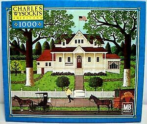 Charles Wysocki Jigsaw Puzzle Ice Cream and Hopscotch 1000 Pieces 2002