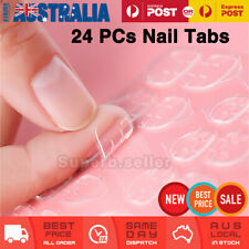24pcs Double sided nail stickers Removable Tips Glue Replacement press on tabs
