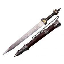 """20"""" Roman Gladius Legion Short Sword Maximus Gladiator Dagger w/ Ornate Handle"""