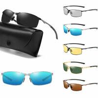 Polarized Mens Sunglasses Polarised New Style Square Frame Photochromic Glasses