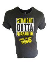 Iron Gods Straight Outta Quarantine Workout T-Shirt Men's Gym Clothing Apparel