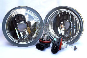 Glass Driving Fog Light Lamps w/Bulbs One Pair For 2002-2004 Aerio 2007-2010 SX4