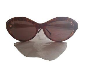 Vintage Laura Biagiotti  P90/S Sunglasses Italy Tortoise Gold Side Trim