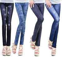 Vogue Women's Denim Jeans Skinny Leggings Elastic Jegging Stretch Pants Trousers