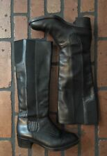 Cole Haan Knee Boots Black Leather Size 6