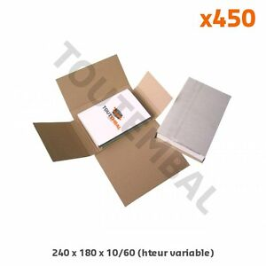 Etui d'emballage livre, CD, DVD 240 x 180 x 10/60 mm (par 450)