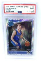 2018 OPTIC SHOCK REFRACTOR Mavericks LUKA DONCIC ROOKIE CARD PSA 9 MINT