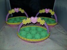 LOT of 3 Hatchimals Colleggtibles Spring Baskets empty