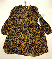 Nwt Time And Tru Leopard Print Sheer Dress With Slip XL 16 - 18