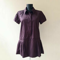 LOUIS VUITTON Minikleid Braun Gr. FR 38 D 36 Damen 100% Baumwolle Kleid Dress