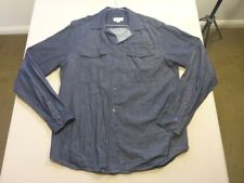 127 MENS NWOT DIESEL DENIM BLUE L/S DRESS SHIRT SZE LRG $200 RRP.
