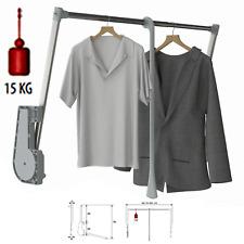 15KG Soft Close Lift / Pull Down Wardrobe Clothes Hanging Rail 750mm-1150mm