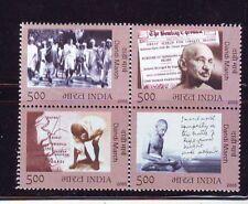 India 2005 Mahatma Gandhi Setenent MNH Block of 4 Stamps (1 Set)