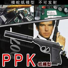 3D Paper Model 1:1 scale Guns 007 PPK Pistols DIY Handmade paper Model Craft Toy
