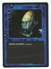 Doctor Who Black Border CCG Creature Card Draconian Common Card Good Condition