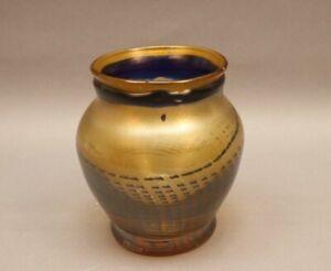 EISCH Glasvase schwere Design Vase Glaskunst mundgeblasen diamantritzsigniert
