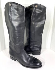 FRYE Melissa Button 2 Women's Size 11M Black Leather Pull On Riding Boots FX-32*