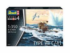 Revell German Submarine Type VII C/41 1 350 Boat Model Kit 05154