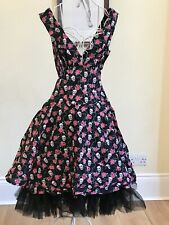 Skull Rose Circle dress by Phaze ~ Rockabilly retro circle dress~ size 10
