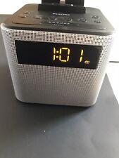 Philips AJT3300/37 Bluetooth Clock Radio Iphone/ Android Speaker Dock (black)