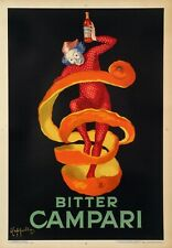 Vintage Original Poster - Cappiello - Bitter Campari - Liquor - Harlequin - 1921