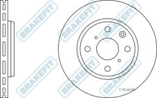 2x Brake Discs (Pair) Vented fits TOYOTA AYGO KGB40 1.0 Front 14 to 19 1KR-FE