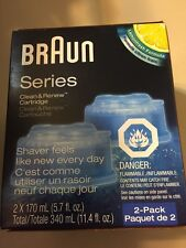 Braun Series Clean $ Renew Cartridge Lemonfresh Formula New - 2 pack GREAT GIFT