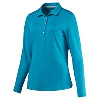 PUMA W LS POLO WOMEN'S LONG SLEEVE GOLF POLO JACKET, #570529-06