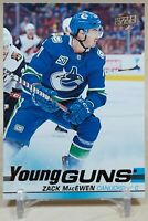 Zack MacEwen Young Guns 2019-20 Upper Deck Rookie RC - Vancouver Canucks