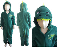 T-Rex Dinosaur Costume One Piece Jump Suit Fancy Dress Up Childrens Role Play.