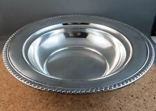 "Vintage Alvin Sterling Silver 9.5"" Serving Bowl S235 Rope Repousse Rim 240 grams"