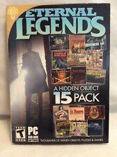 Eternal Legends - A Hidden Object 15 Pack PC Video Game! DVD-ROM Software! P64