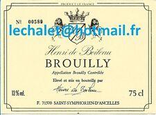 Authentique étiquette de BROUILLY