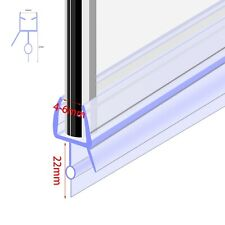 Bath Shower Screen Glass Door Seal Strip Thickness 4 - 6mm / Seals Gap 14mm