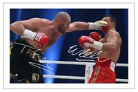 TYSON FURY & WLADIMIR KLITSCHKO BOXING SIGNED AUTOGRAPH PHOTO PRINT