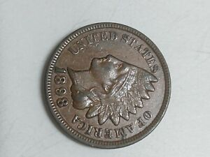 1898 Indian Head Cent in About Uncirculated Condition